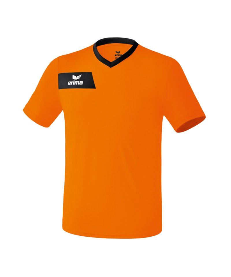 Erima Porto Trikot kurzarm Kids Orange Schwarz - orange