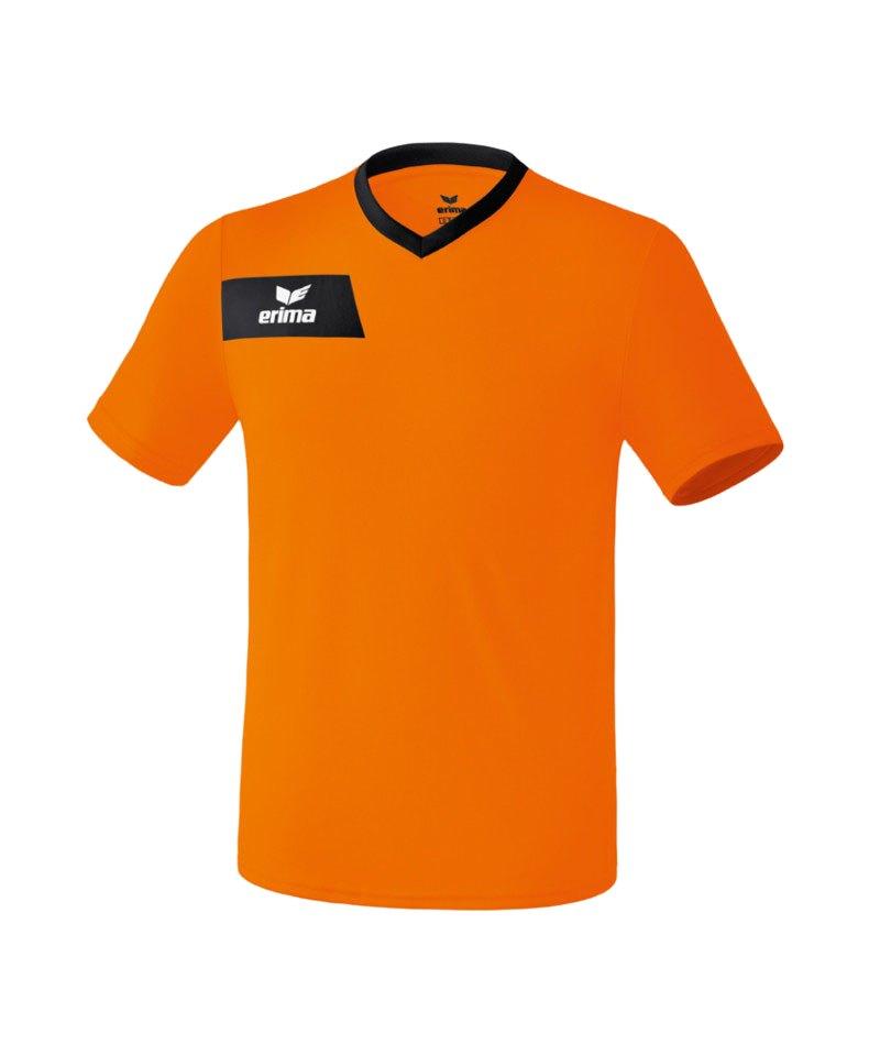 Erima Porto Trikot kurzarm Orange Schwarz - orange