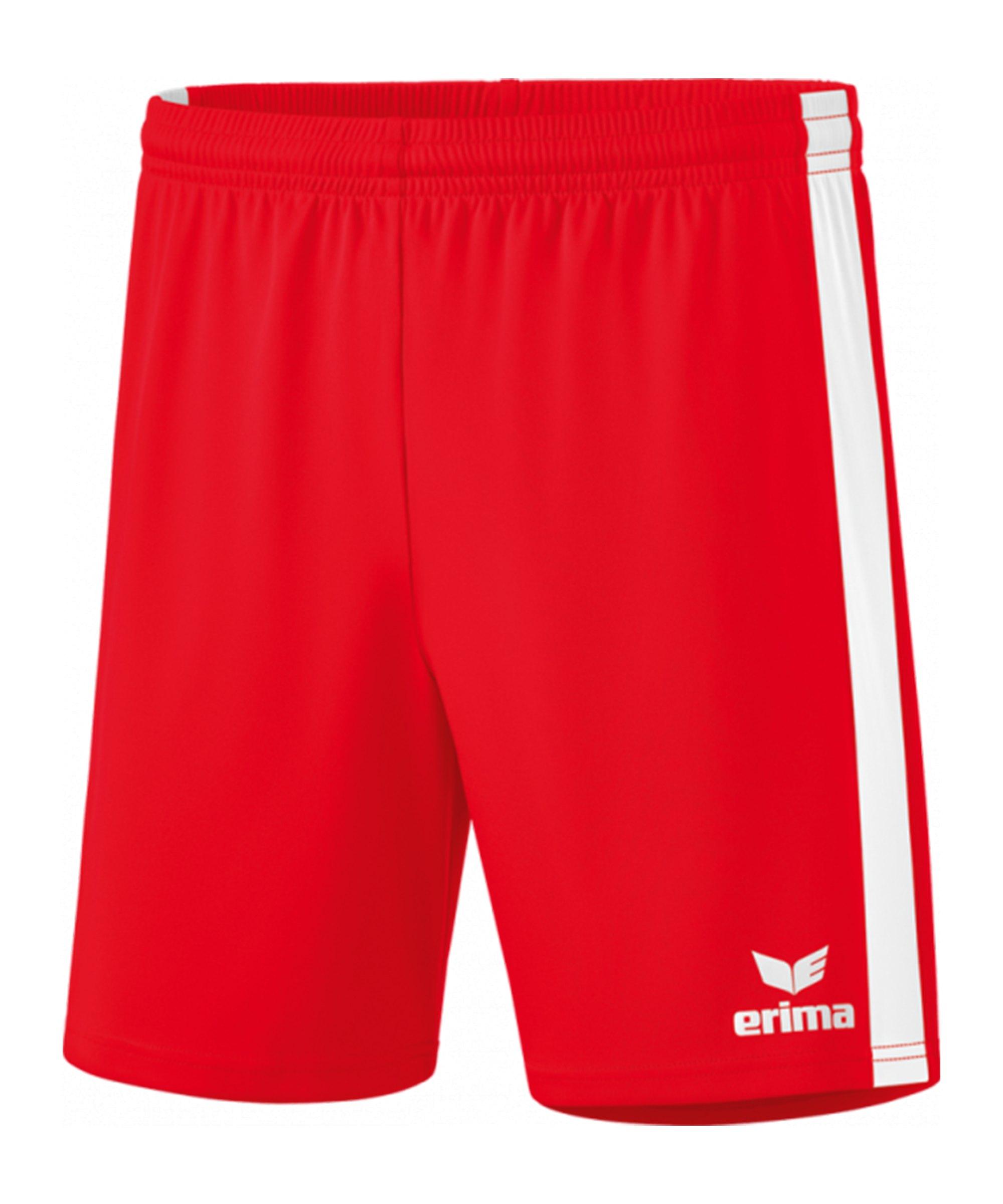 Erima Retro Star Short Rot Weiss - rot