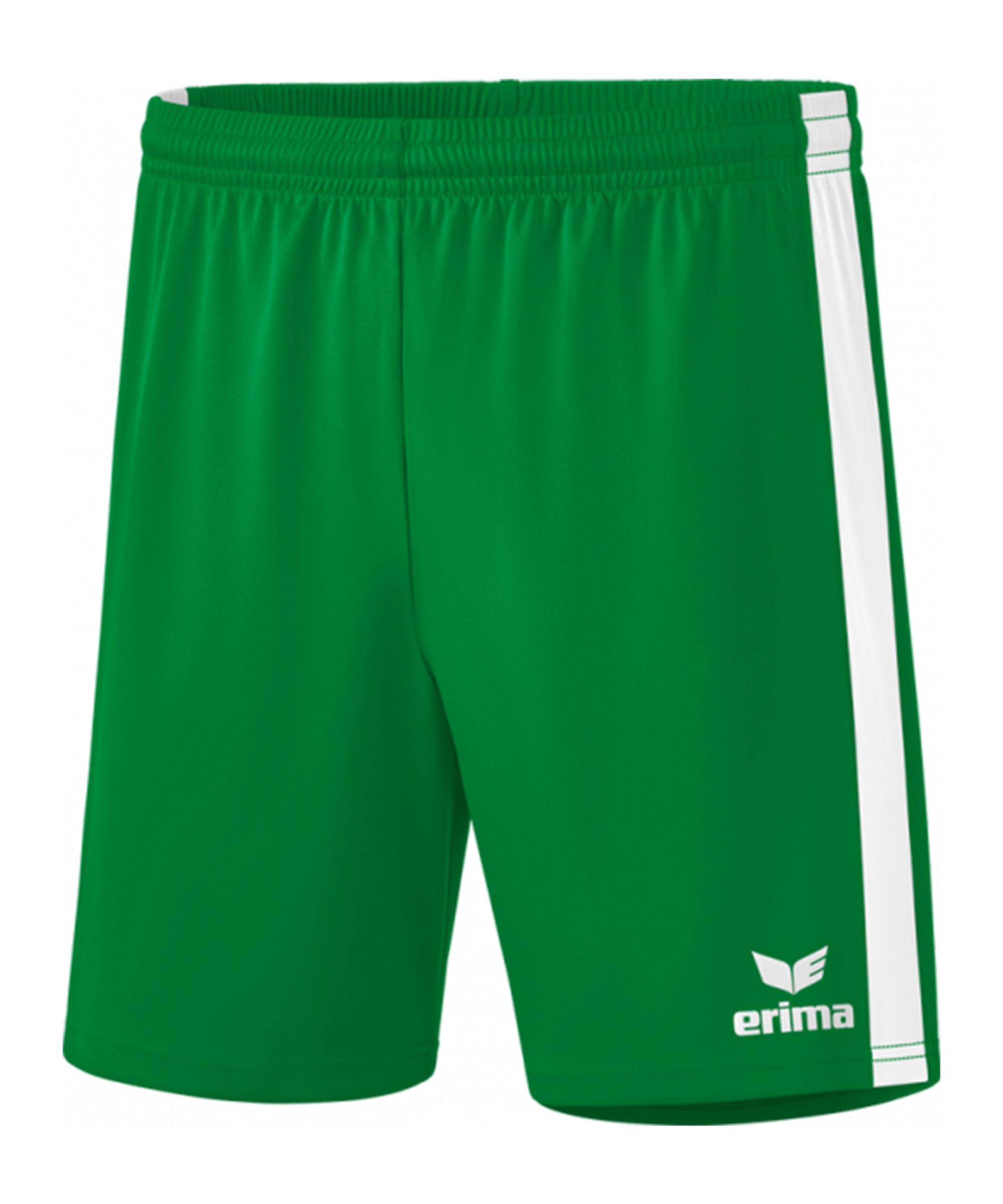 Erima Retro Star Shorts Kids Grün Weiss - gruen