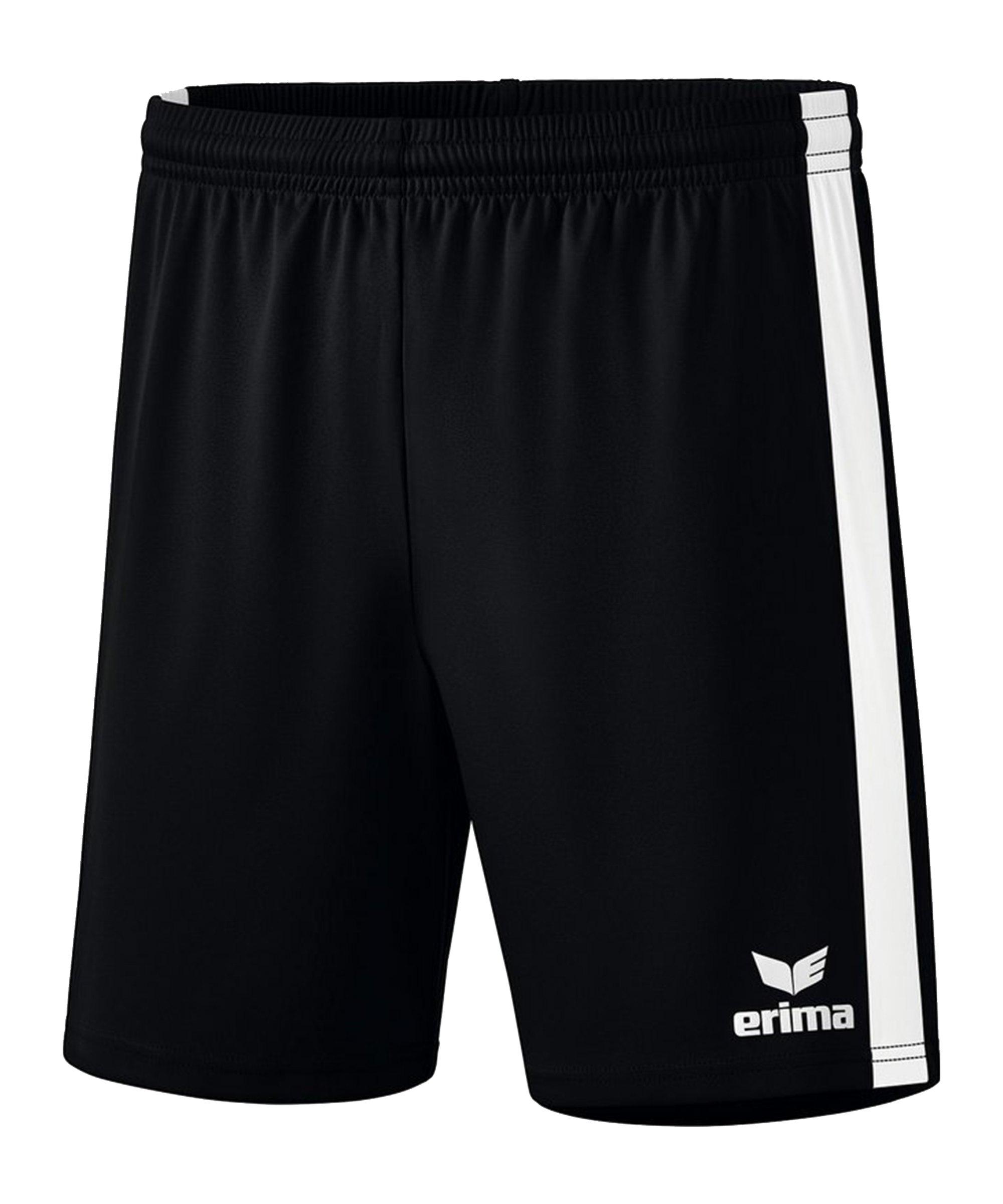Erima Retro Star Short Schwarz Weiss - schwarz