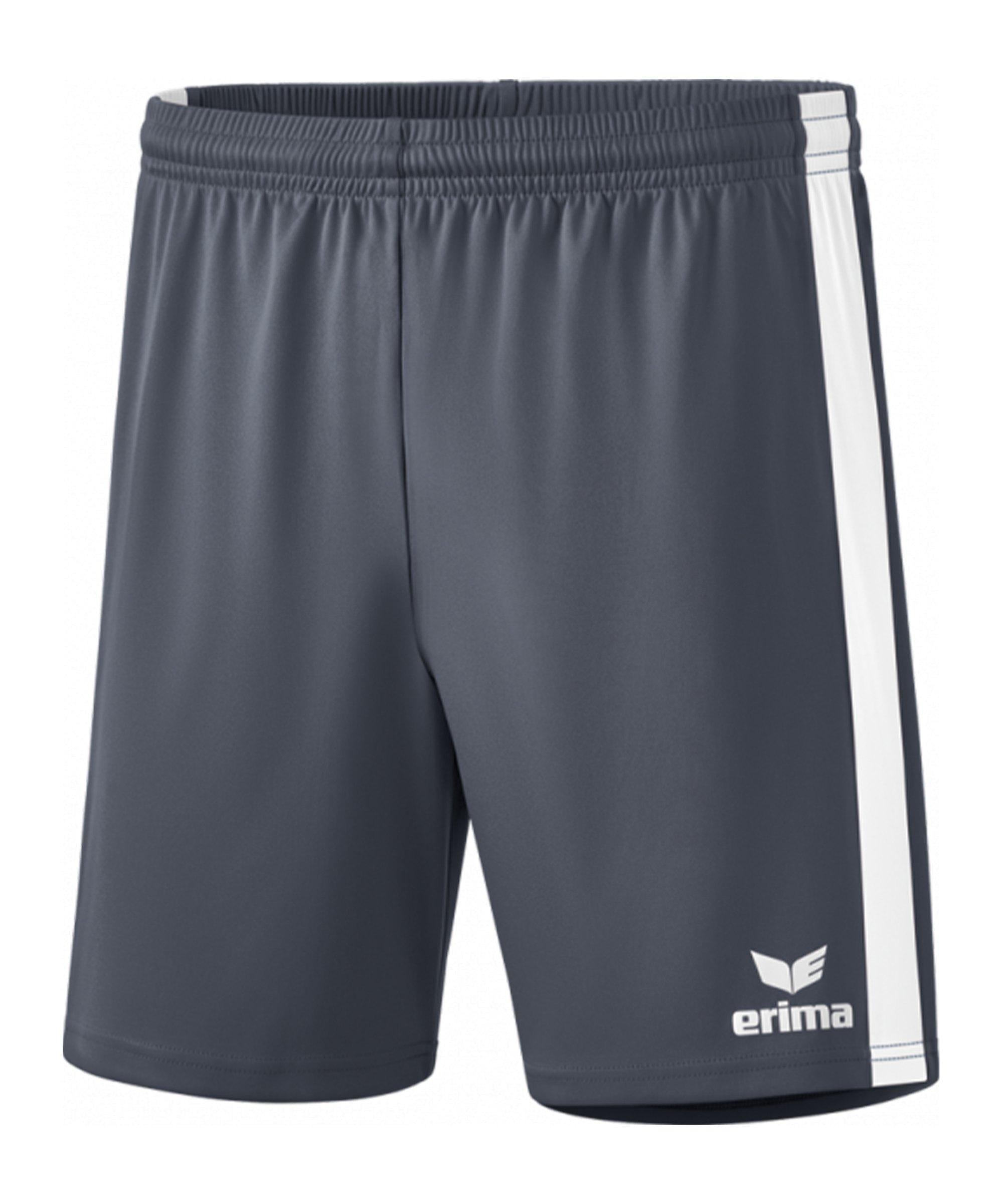 Erima Retro Star Short Grau Weiss - grau
