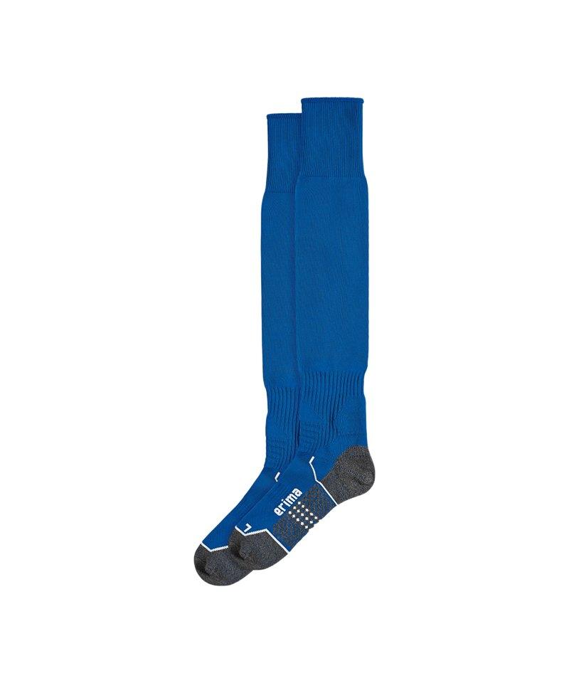Erima Stutzenstrumpf Blau - blau