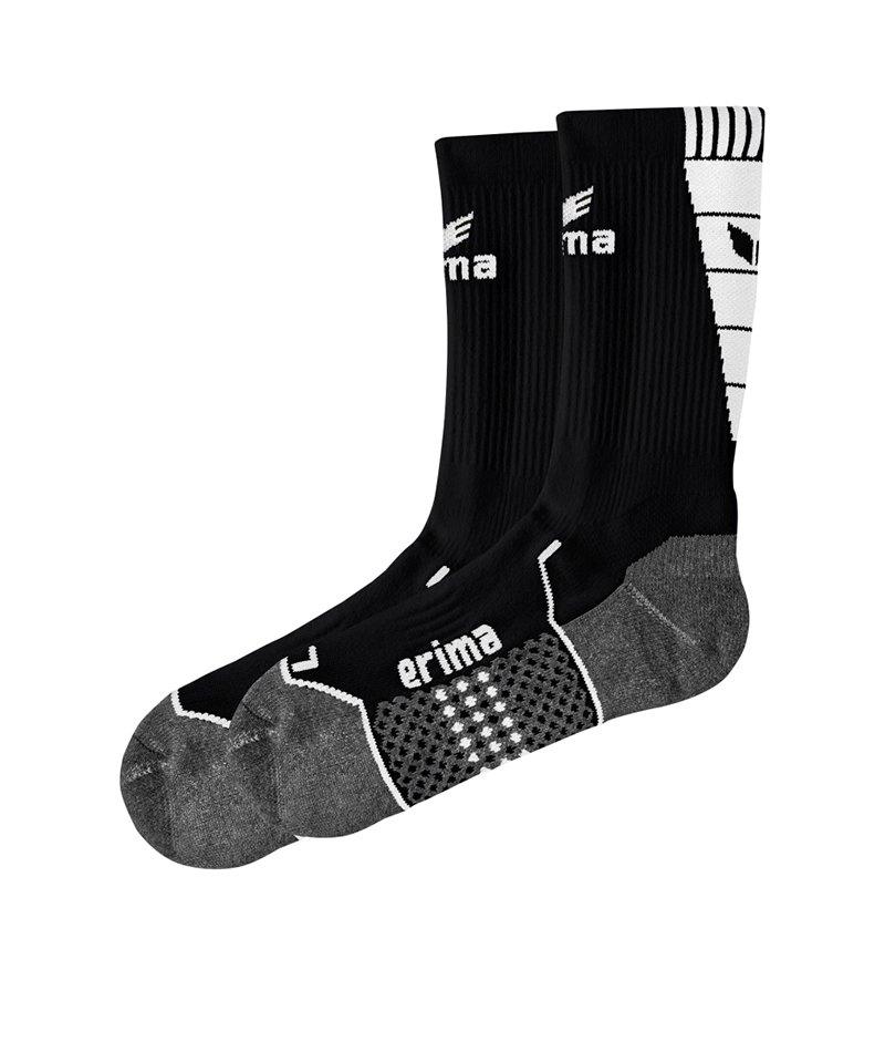 Erima Short Socks Trainingssocken Schwarz Weiss - schwarz