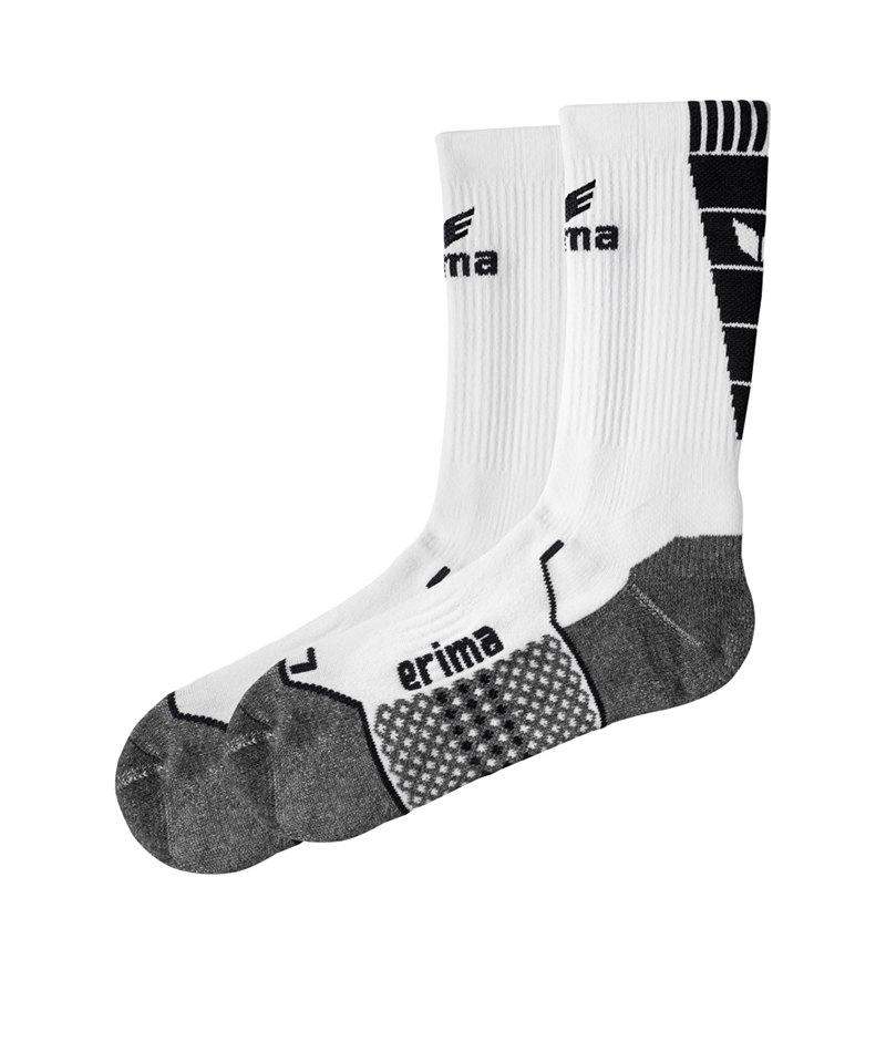 Erima Short Socks Trainingssocken Weiss Schwarz - weiss