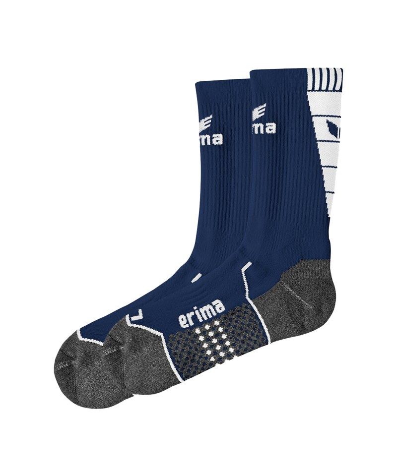 Erima Short Socks Trainingssocken Dunkelblau Weiss - blau