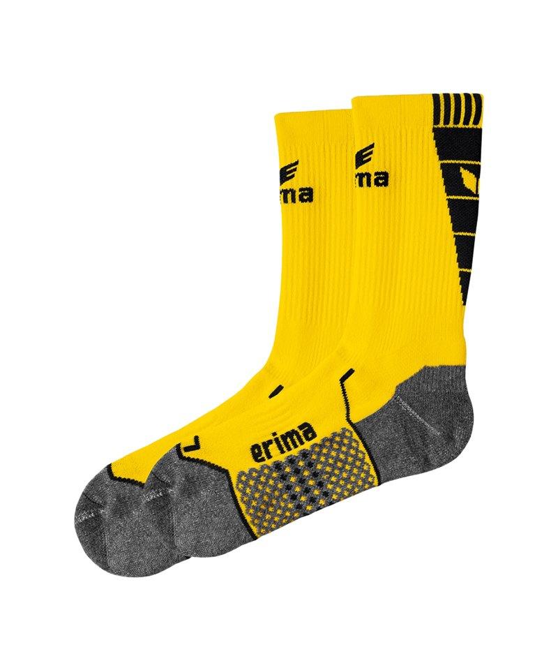 Erima Short Socks Trainingssocken Gelb Schwarz - gelb