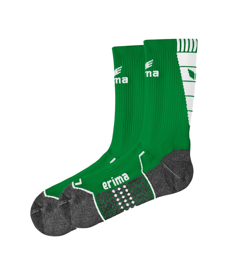 Erima Short Socks Trainingssocken Grün Weiss - gruen