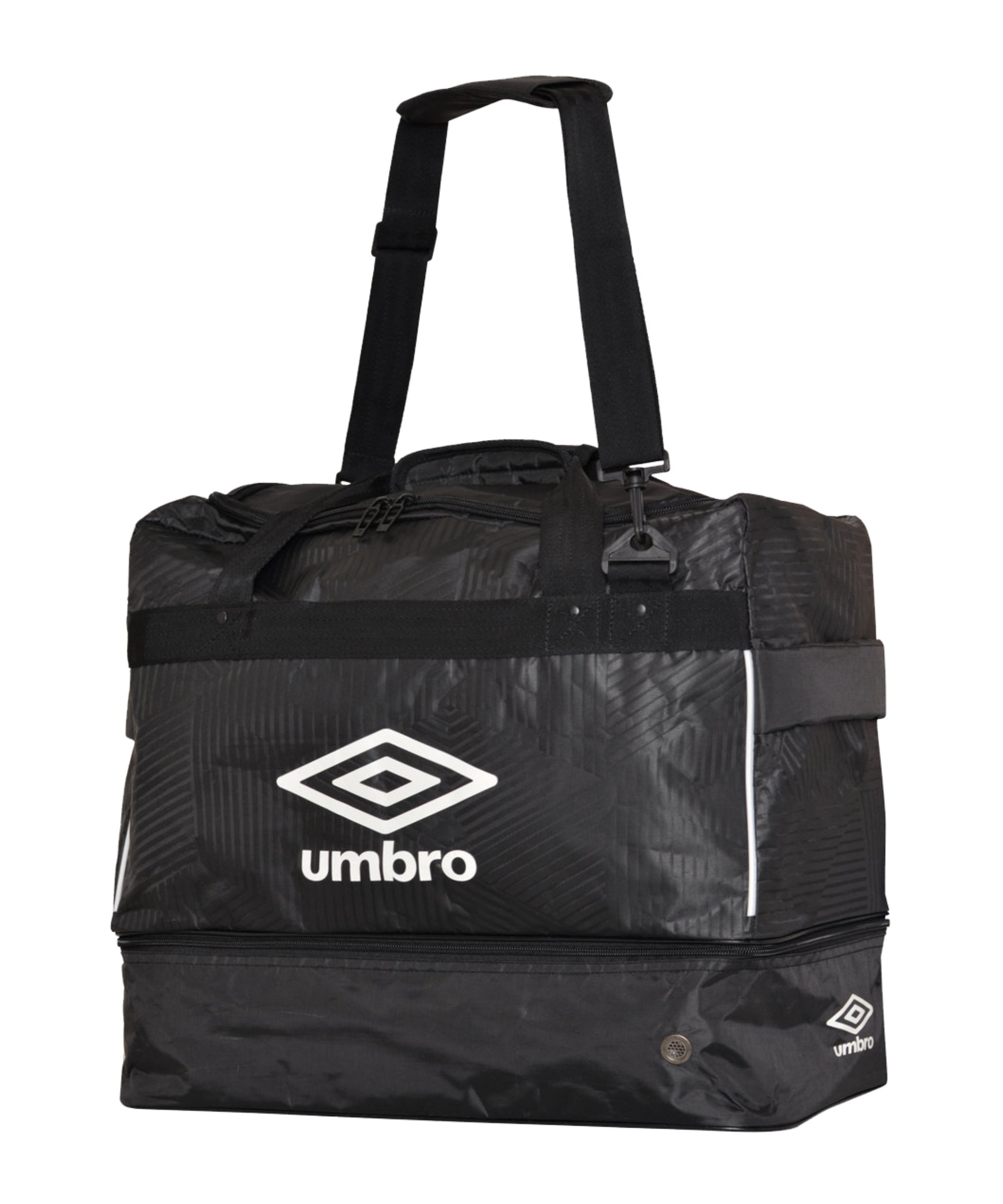 Umbro Maxium Tasche Gr. M mit Bodenfach Kids F090 - schwarz