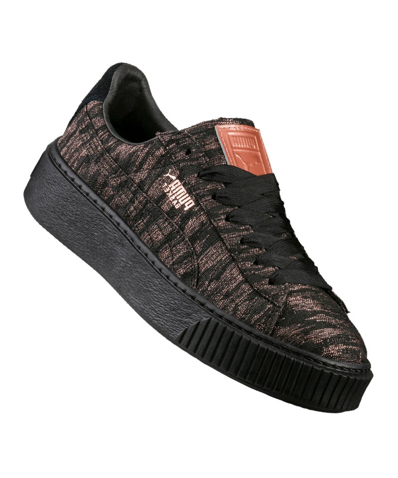 PUMA Sneaker Basket Platform VR Damen Schwarz F02 - schwarz
