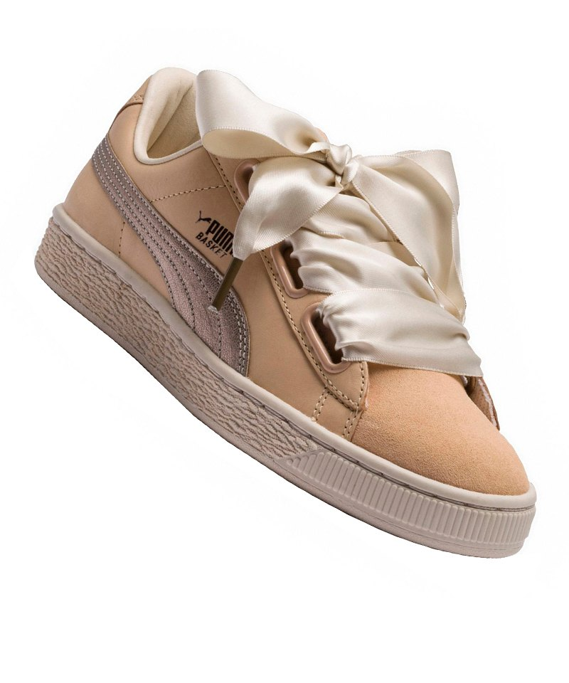 PUMA Basket Heart Up Sneaker Damen Beige F01 - beige