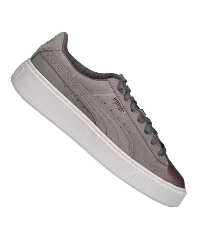 PUMA Suede Platform LunaLux Sneaker Damen Grau F01 - grau