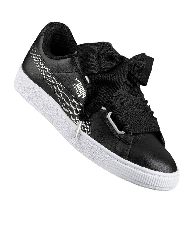 PUMA Basket Heart Oceanaire Sneaker Damen F01 - schwarz