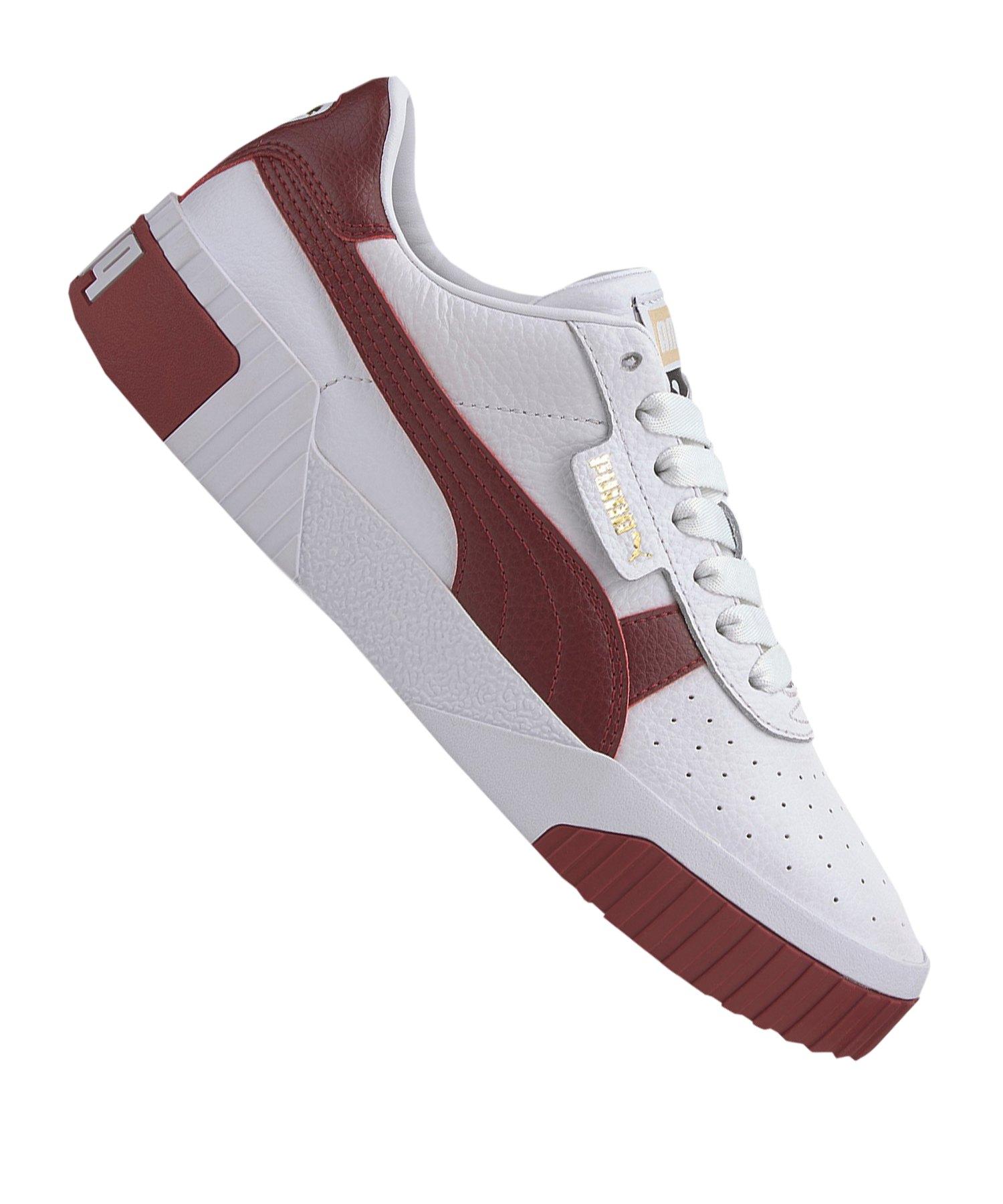 PUMA Cali Sneaker Damen Weiss Rot F14 - weiss