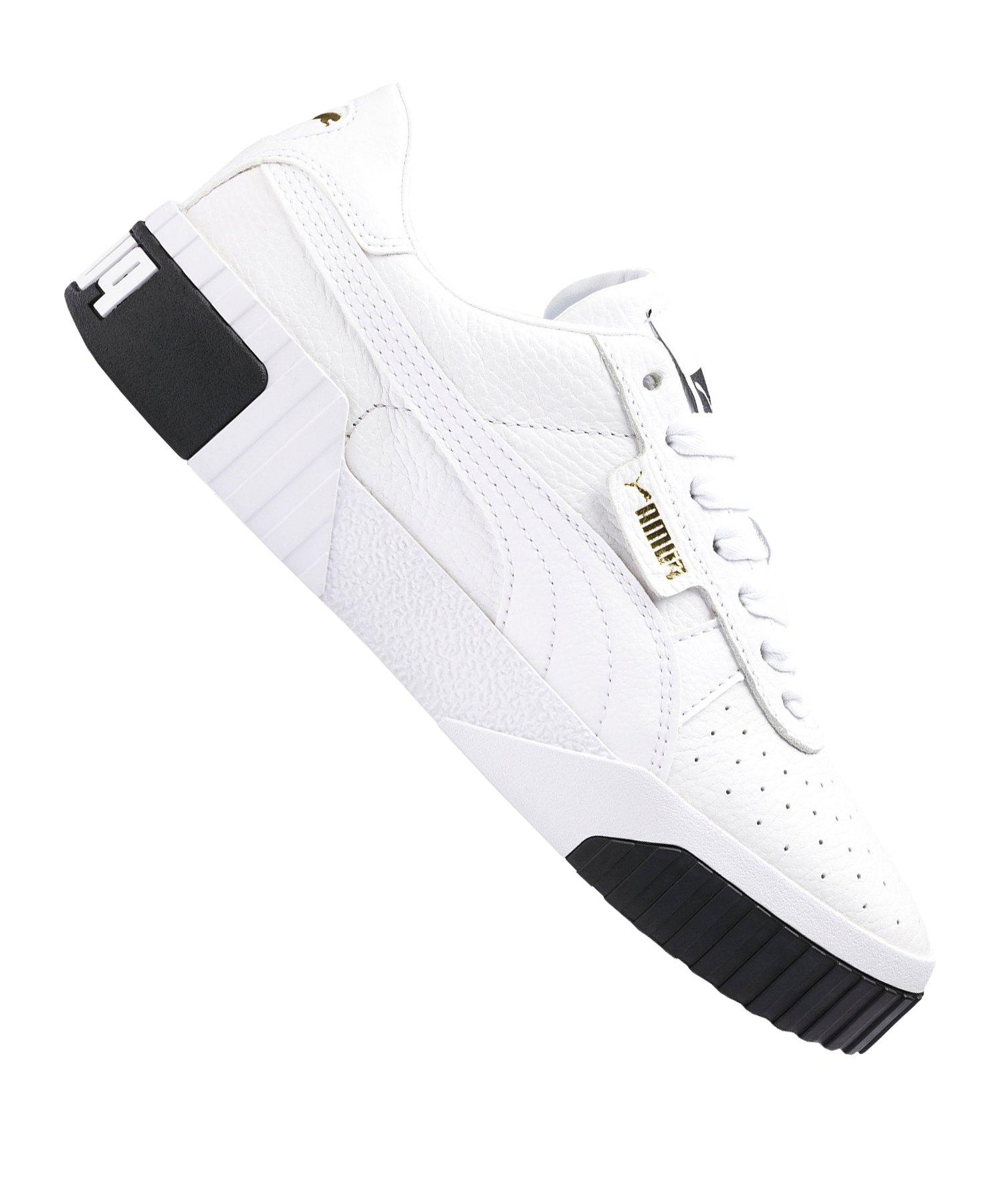 PUMA Cali Sneaker Damen Weiss Schwarz F04 - weiss