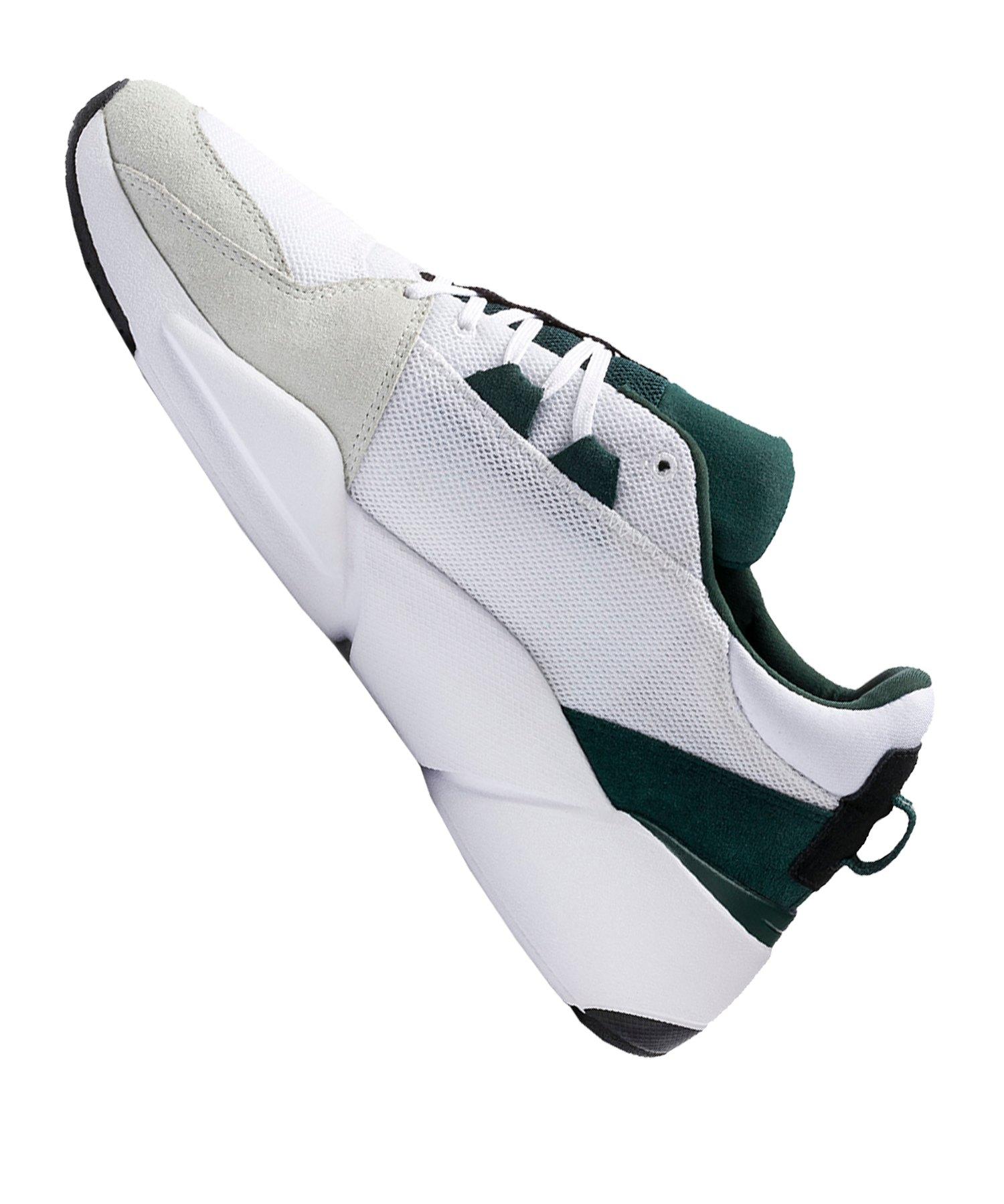 PUMA ZETA Suede Sneaker Weiss Grün F03