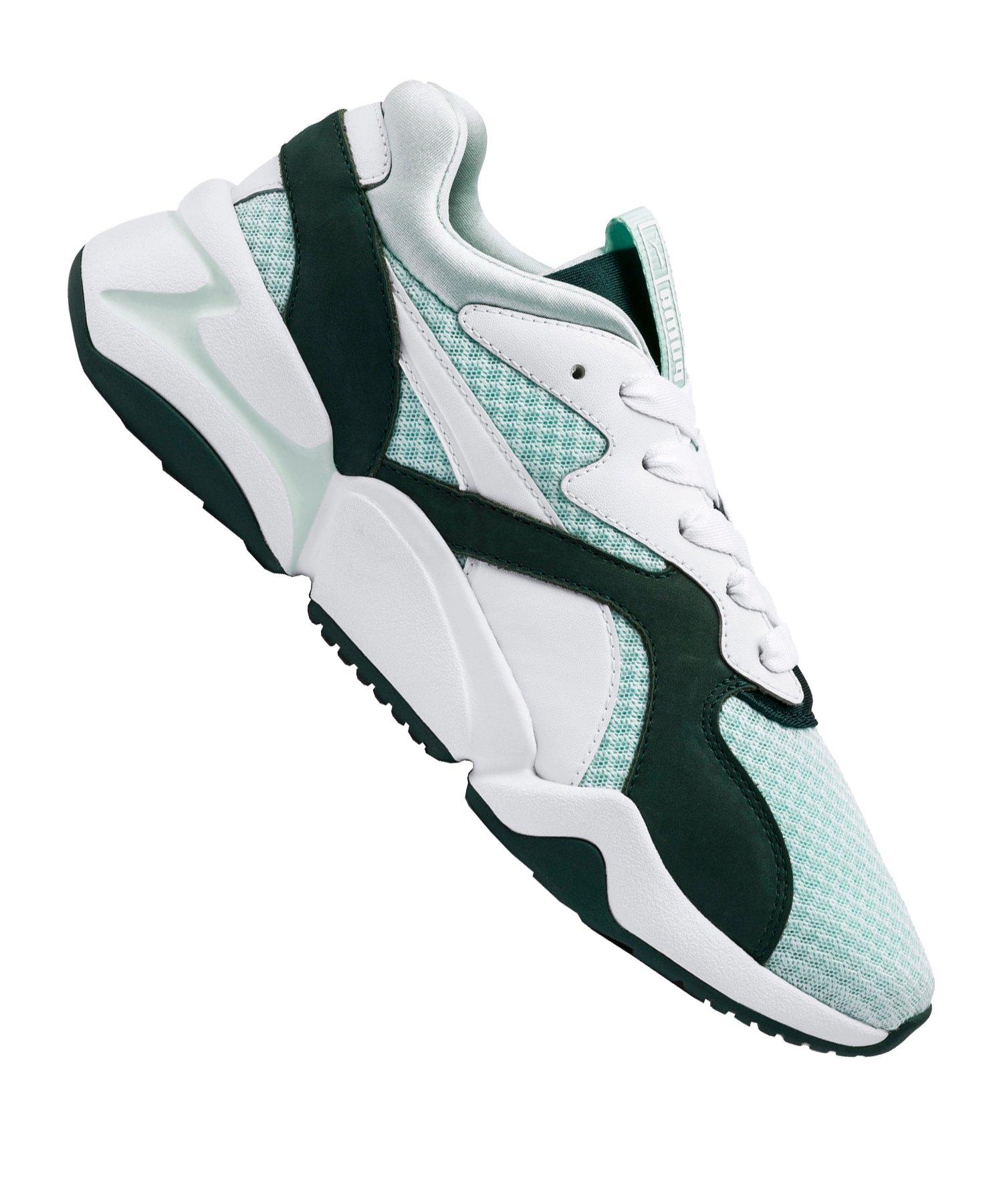 PUMA Nova 90s Sneaker Damen Weiss Grün F02 - weiss