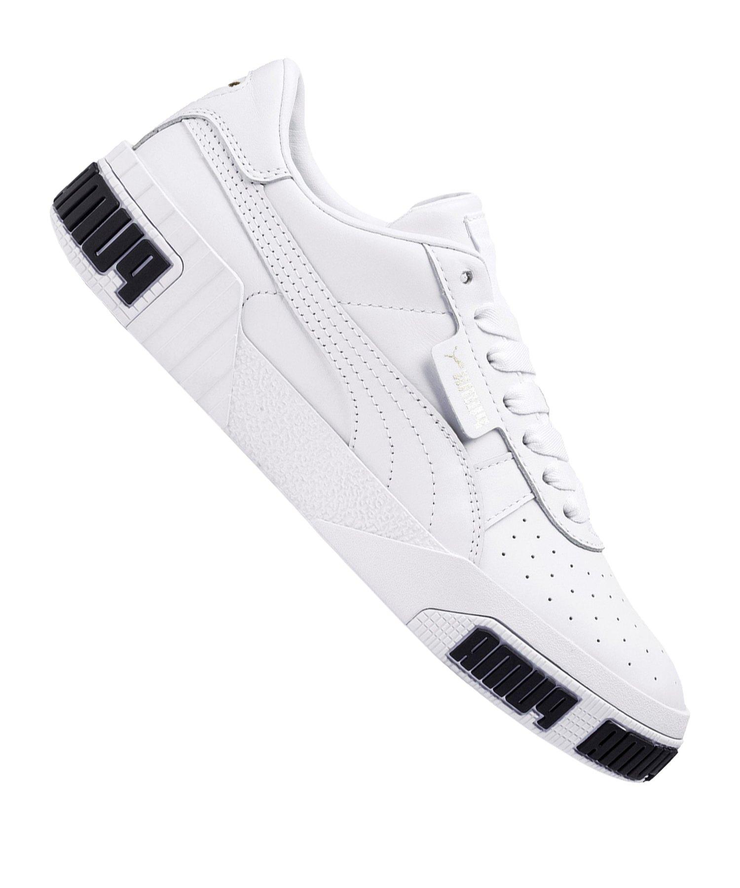 PUMA Cali Bold Sneaker Damen Weiss Gold F01 - Weiss