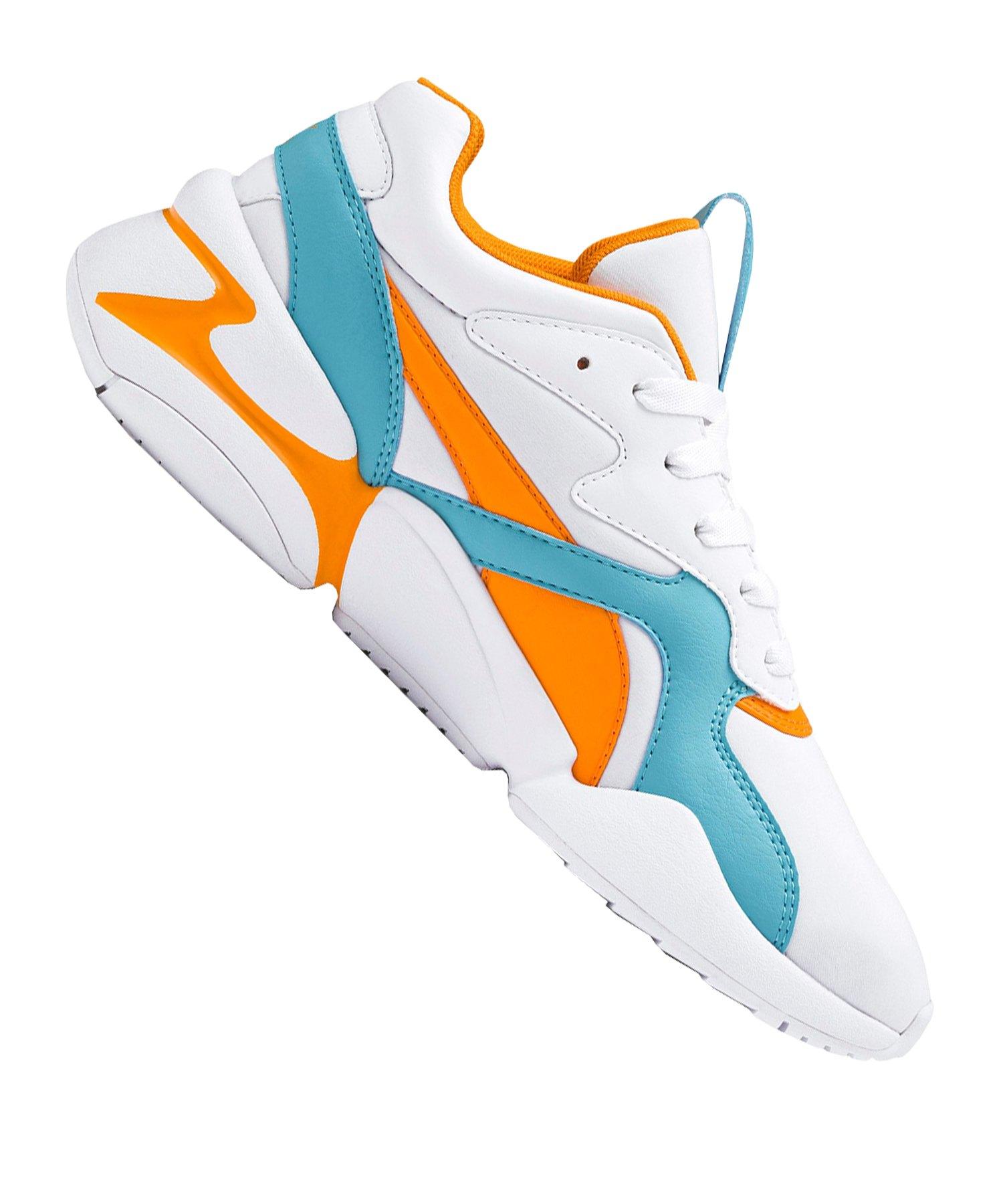 PUMA Nova Sneaker Damen Weiss Blau F02 - Weiss