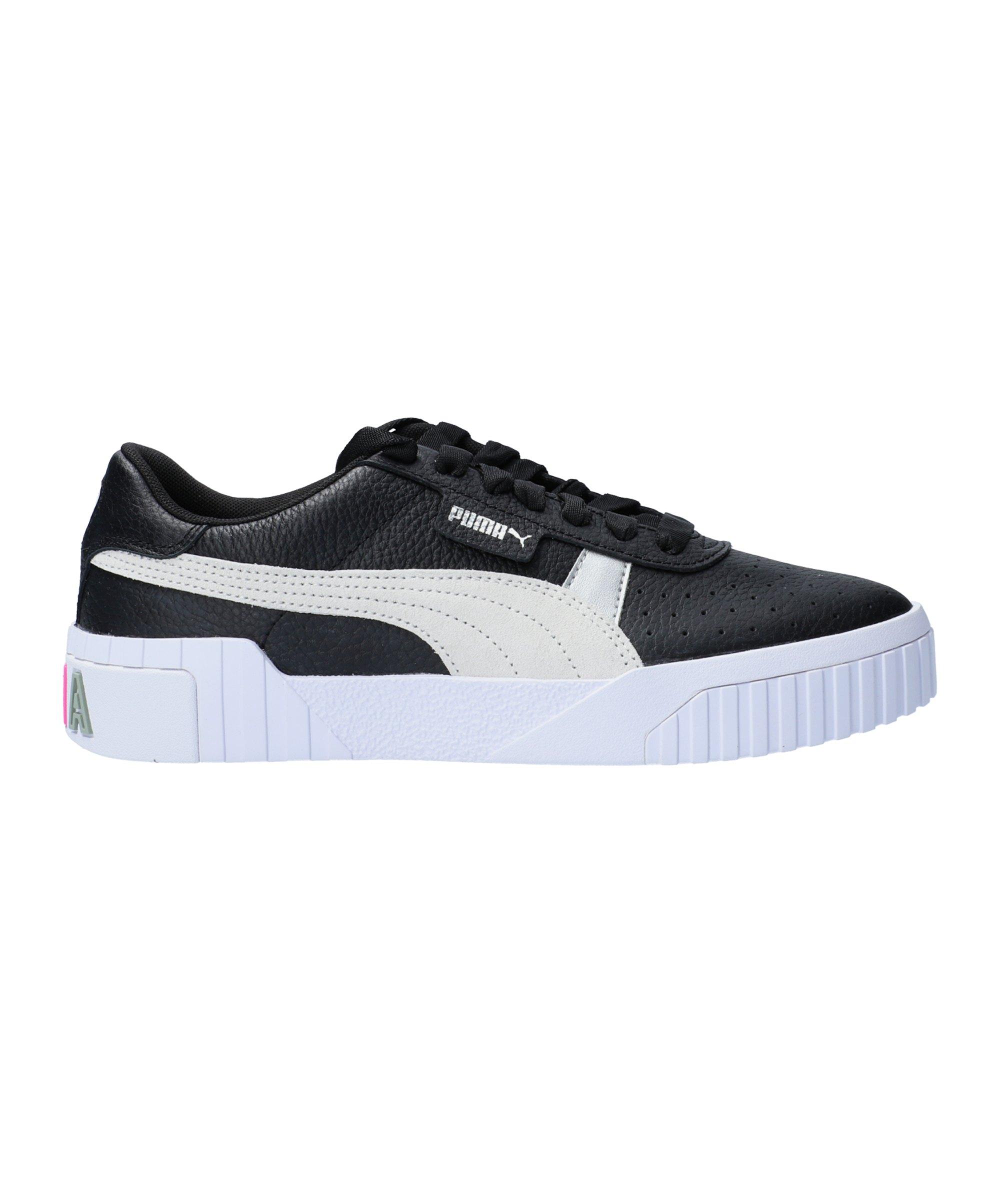 PUMA Cali Varsity Sneaker Damen Schwarz Weiss F02 - schwarz