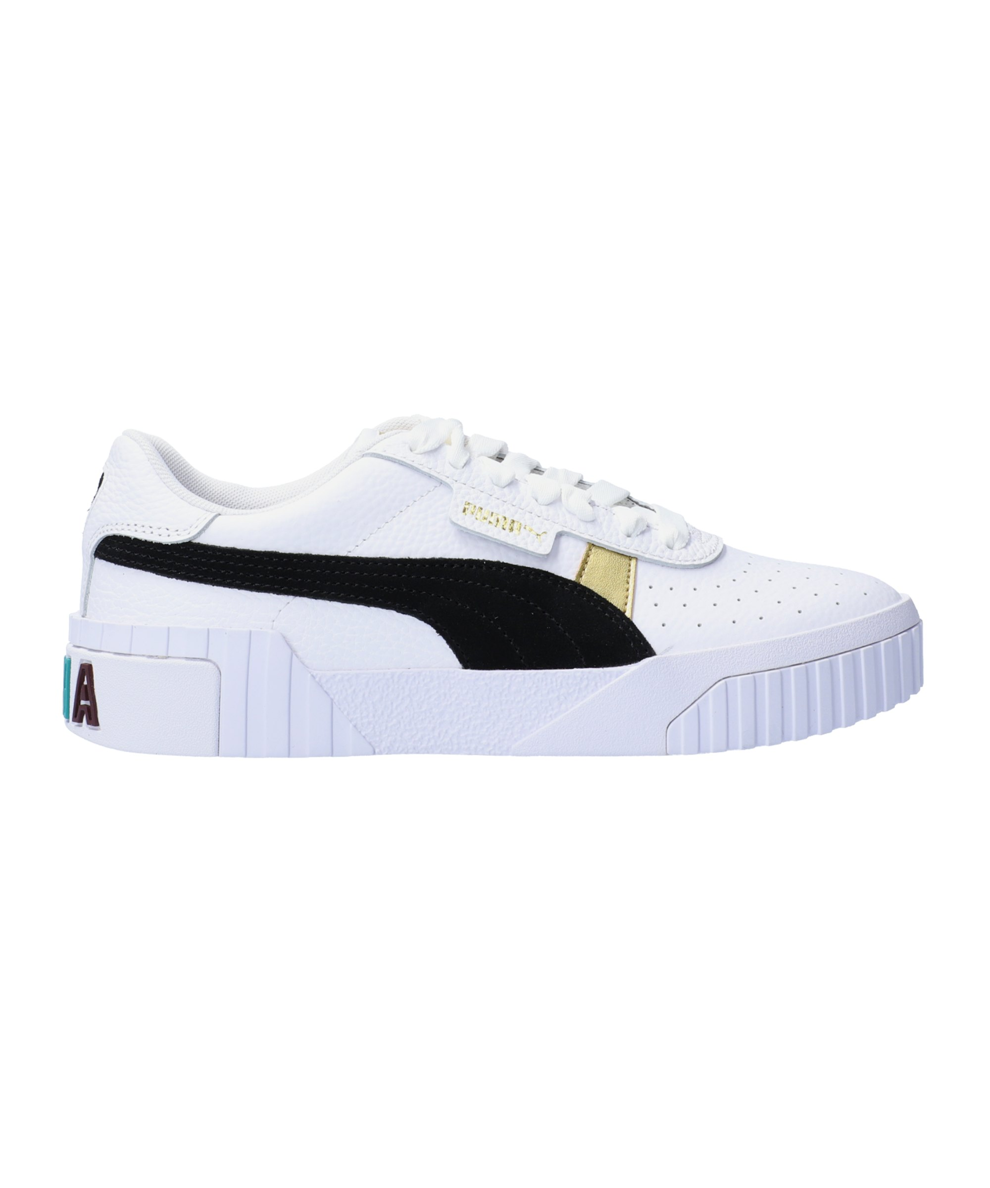PUMA Cali Varsity Sneaker Damen Weiss Schwarz F01 - weiss