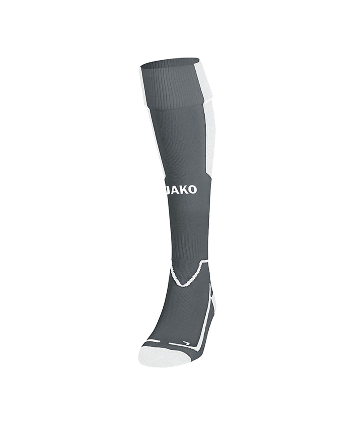 Jako Lazio Stutzenstrumpf Grau Weiss F41 - Grau