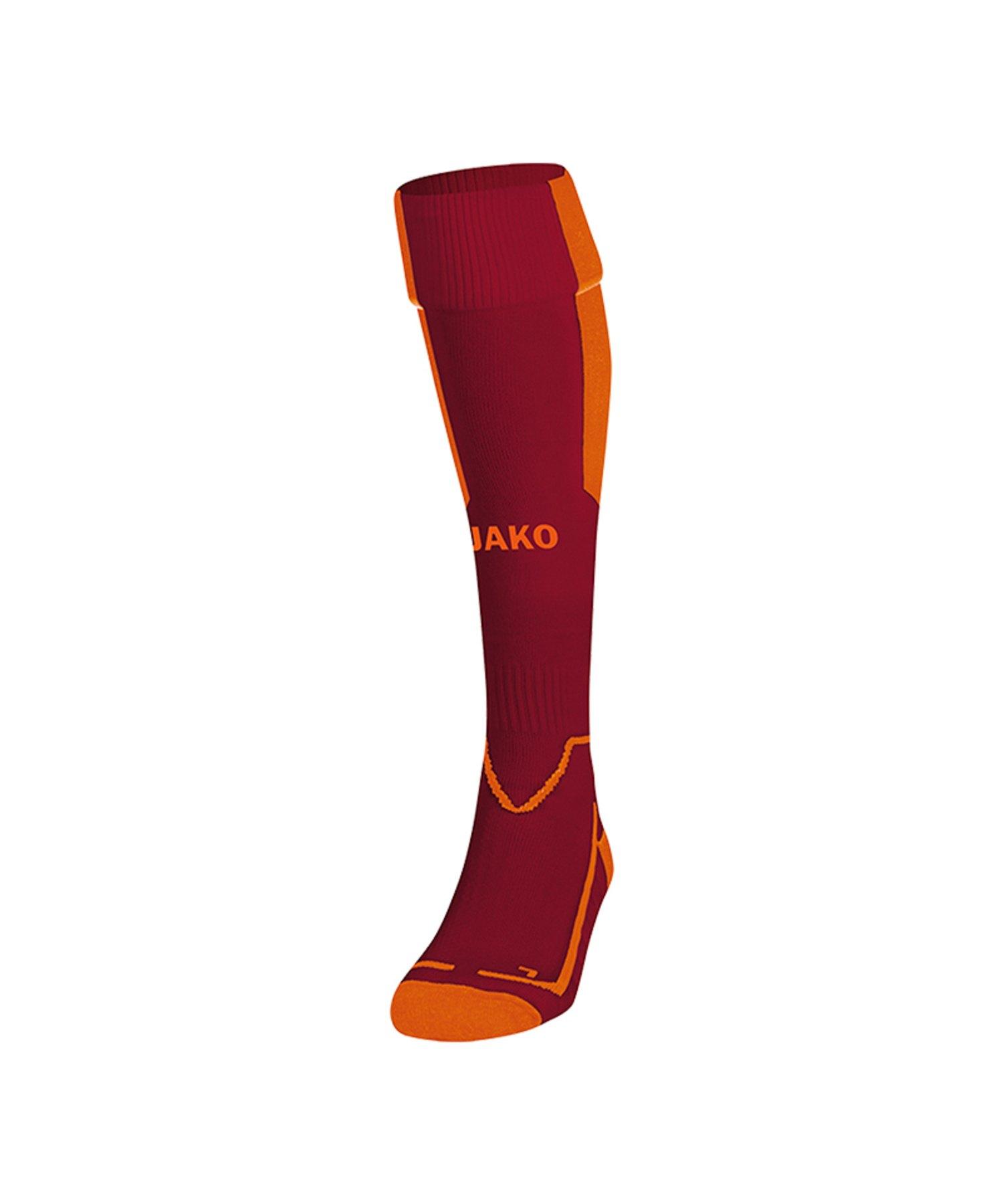 Jako Lazio Stutzenstrumpf Rot Orange F13 - Rot