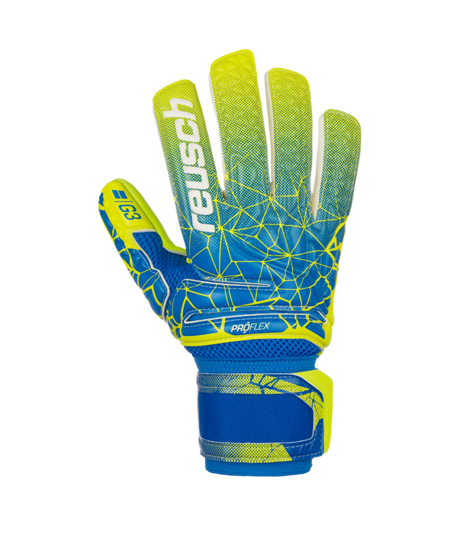 Reusch Pro G3 NC Torwarthandschuh Blau Gelb F883 - blau