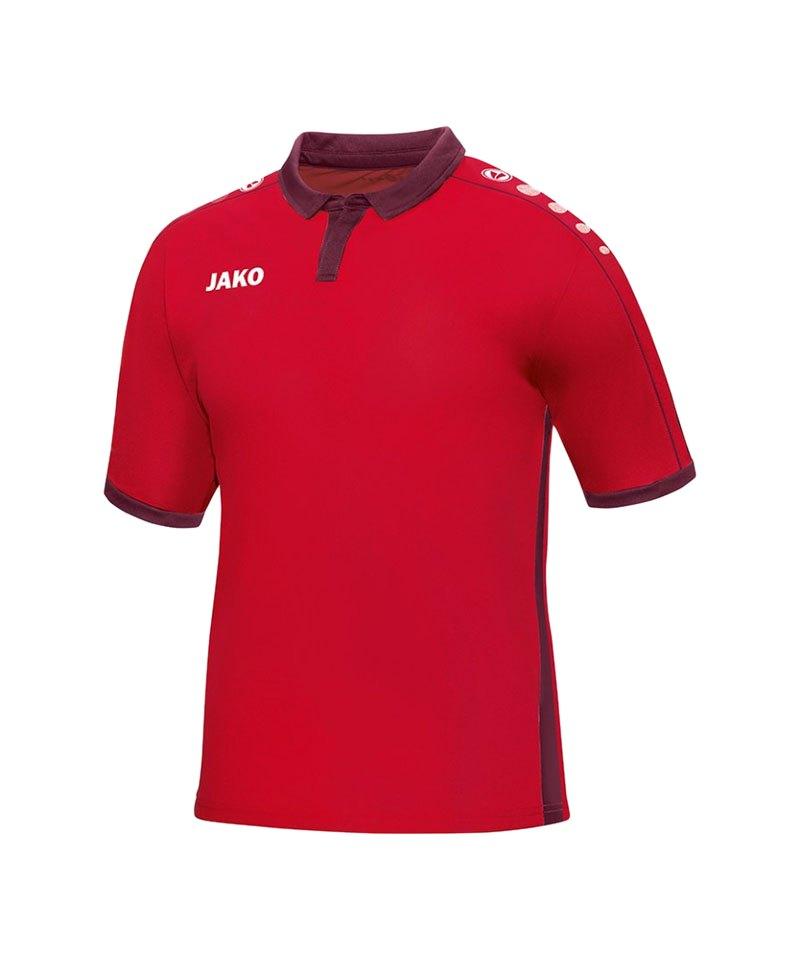 Jako Kurzarmtrikot Derby F01 Rot - rot