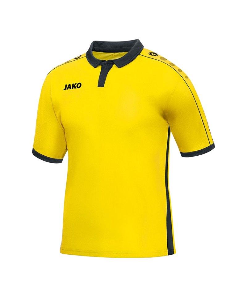 Jako Kurzarmtrikot Derby F03 Gelb Schwarz - gelb