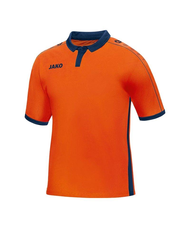 Jako Kurzarmtrikot Derby F18 Orange Blau - orange