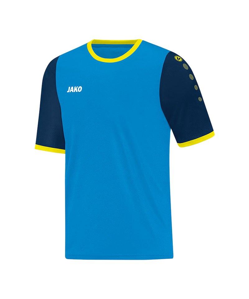 Jako Trikot Leeds kurzarm Blau Gelb F89 - blau