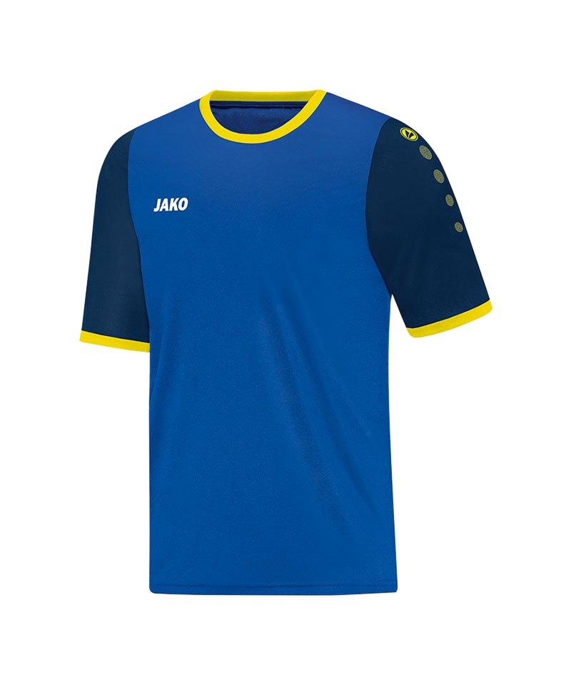 Jako Trikot Leeds kurzarm Kinder Blau Gelb F43 - blau