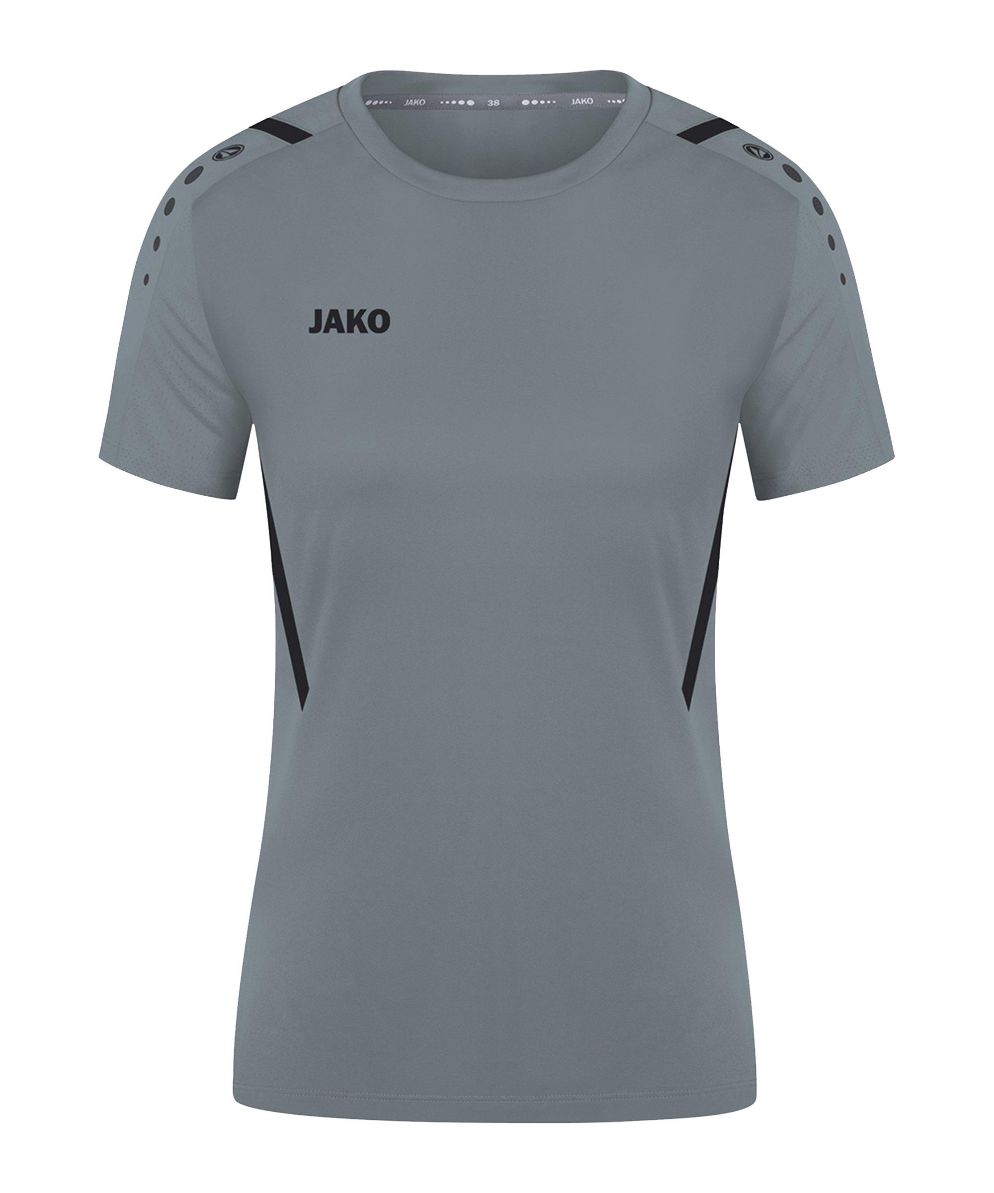 JAKO Challenge Trikot Damen Grau Schwarz F841 - grau