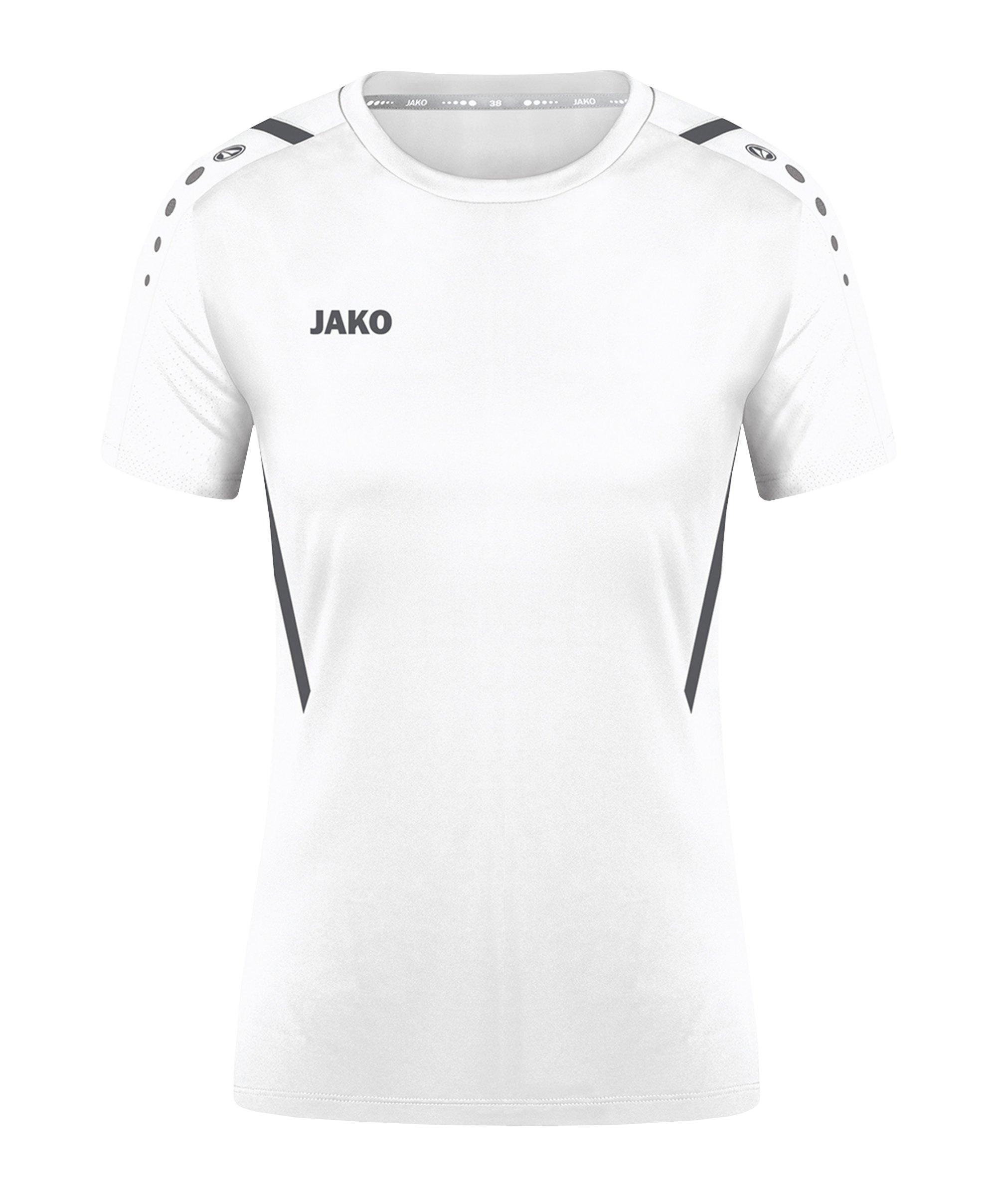 JAKO Challenge Trikot Damen Weiss Grau F02 - weiss