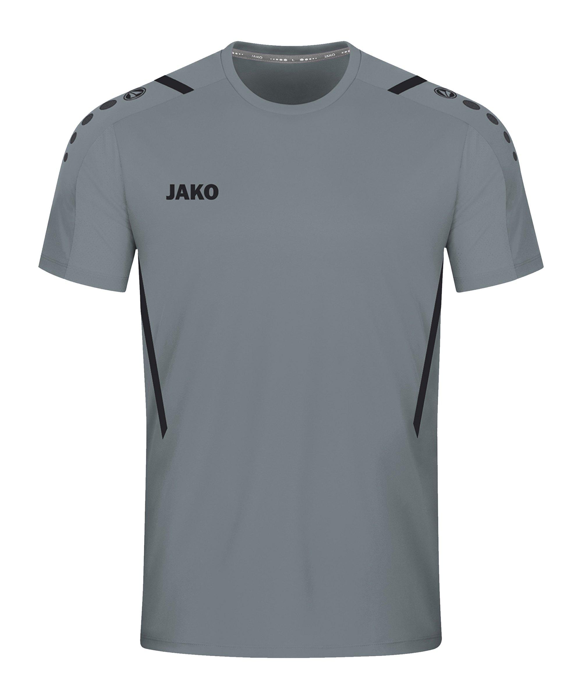 JAKO Challenge Trikot Grau Schwarz F841 - grau