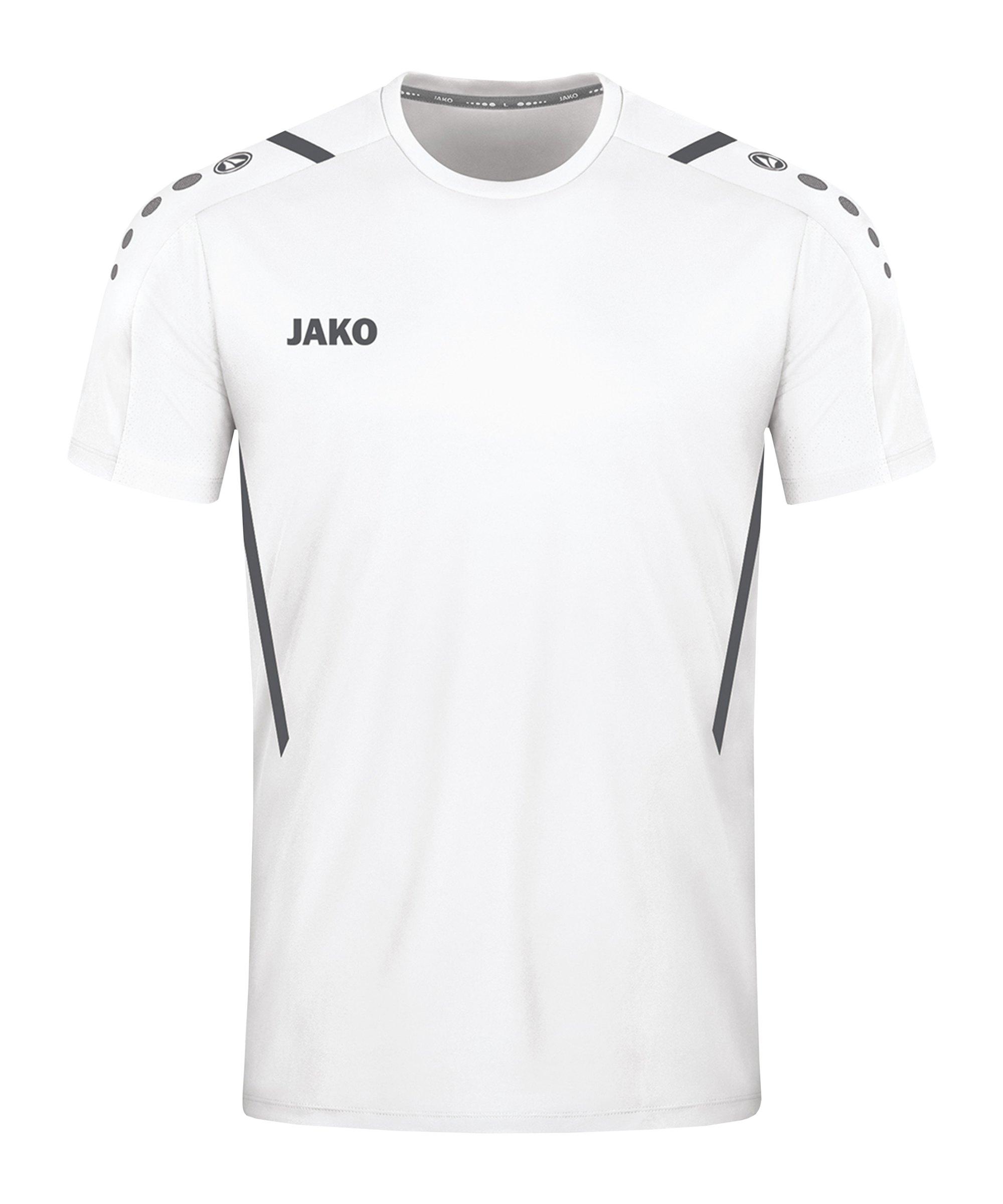 JAKO Challenge Trikot Weiss Grau F02 - weiss