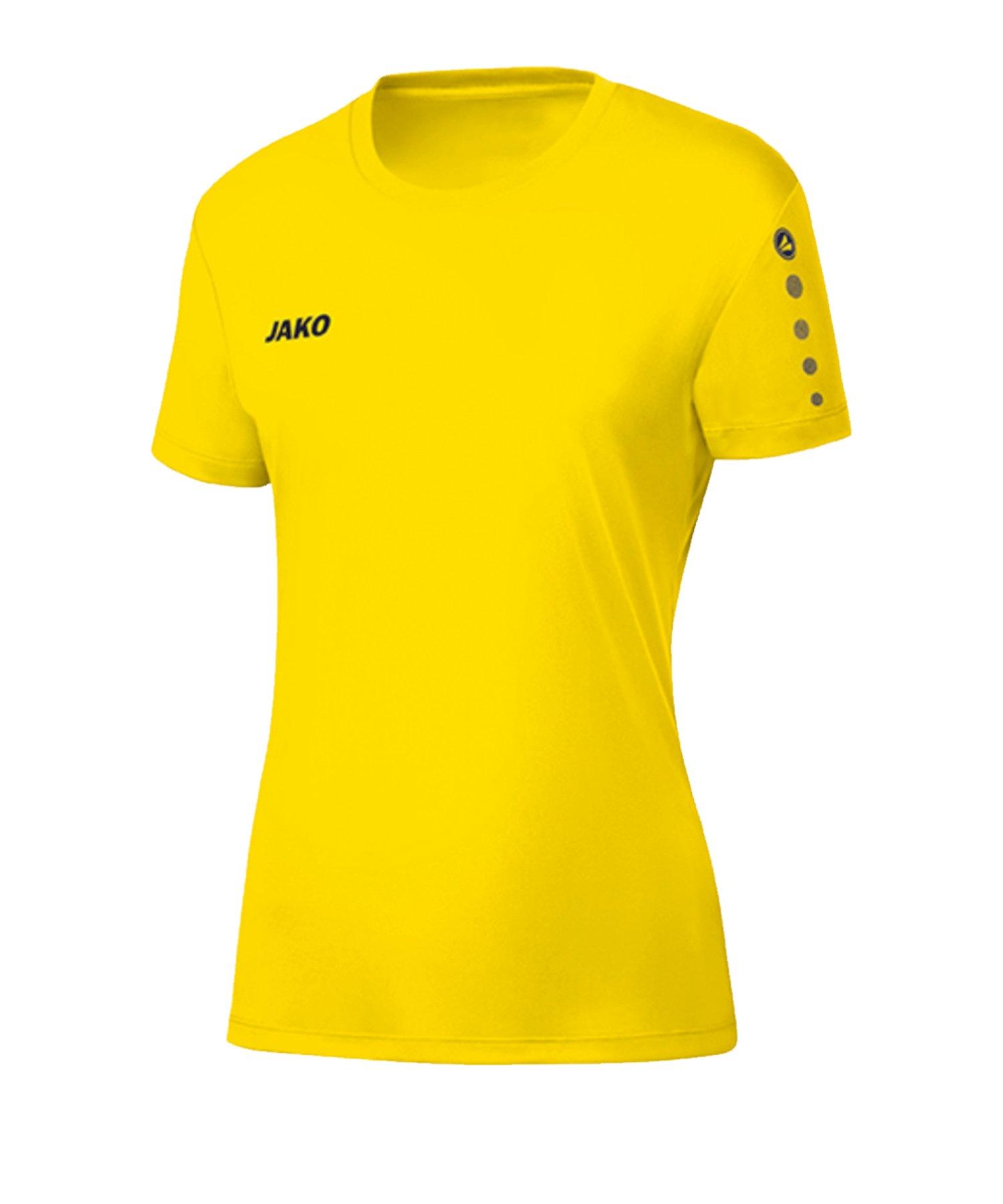 JAKO Team Trikot Damen Gelb F03 - gelb