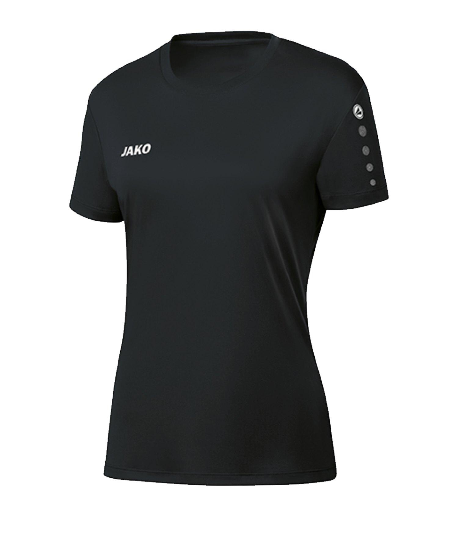 JAKO Team Trikot Damen Schwarz F08 - schwarz