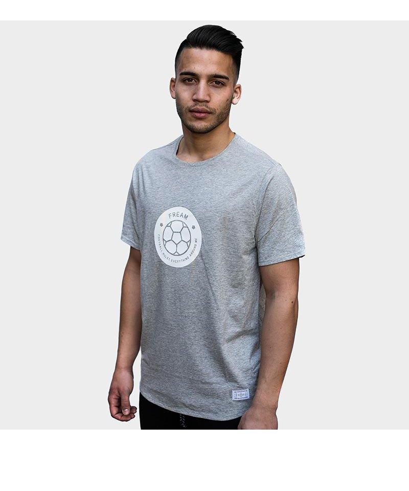 FREAM F.C. T-Shirt Basicline Crew 3 Grau - grau