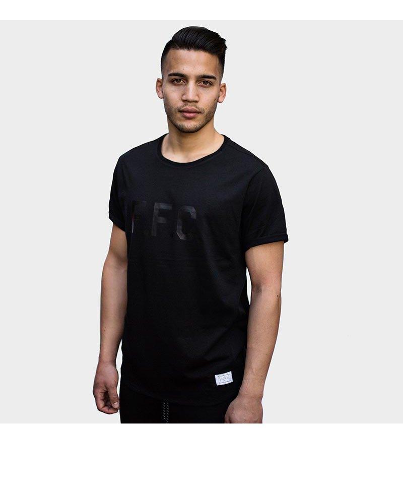 FREAM F.C. T-Shirt Meshline Crew 4 Schwarz - schwarz