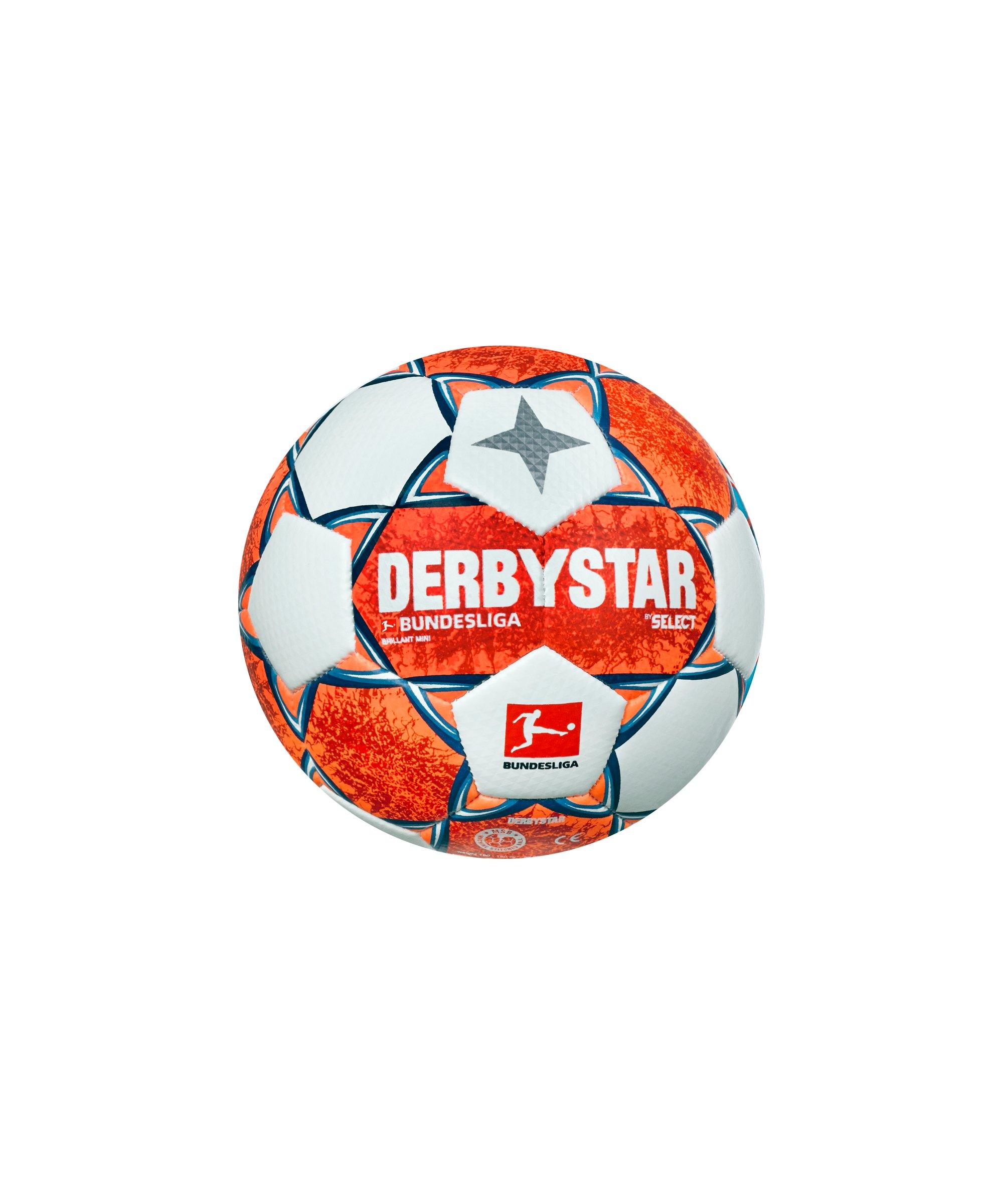 Derbystar Bundesliga Brillant Mini v21 Trainingsball 2021/2022 Orange Blau F021 - orange