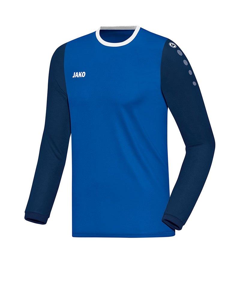 Jako Trikot Leeds langarm Blau F04 - blau