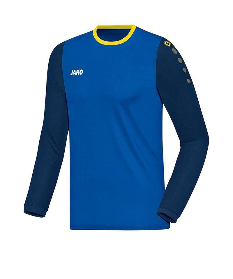 Jako Trikot Leeds langarm Blau Gelb F43 - blau