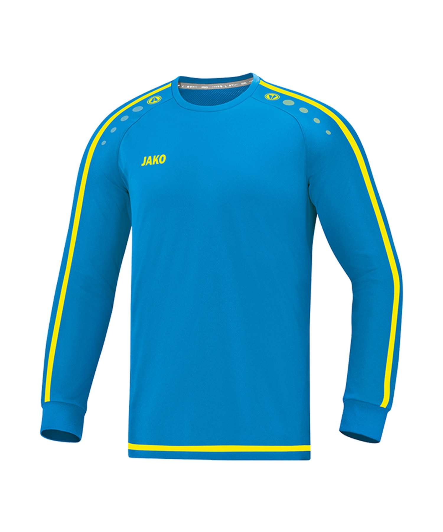 Jako Striker 2.0 Trikot langarm Blau Gelb F89 - Blau