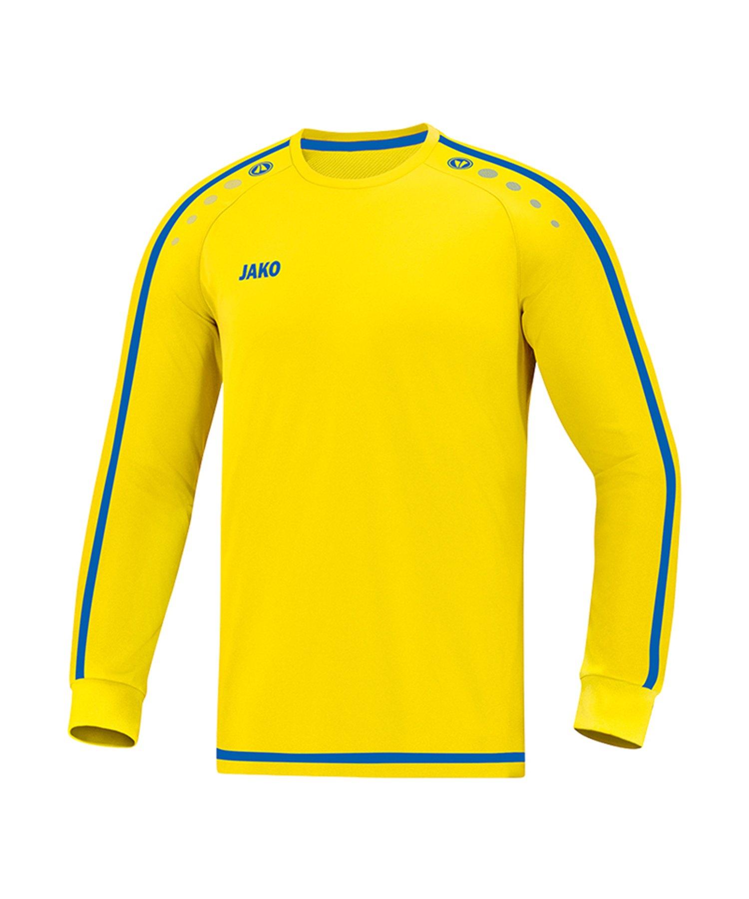 Jako Striker 2.0 Trikot langarm Gelb Blau F12 - Gelb