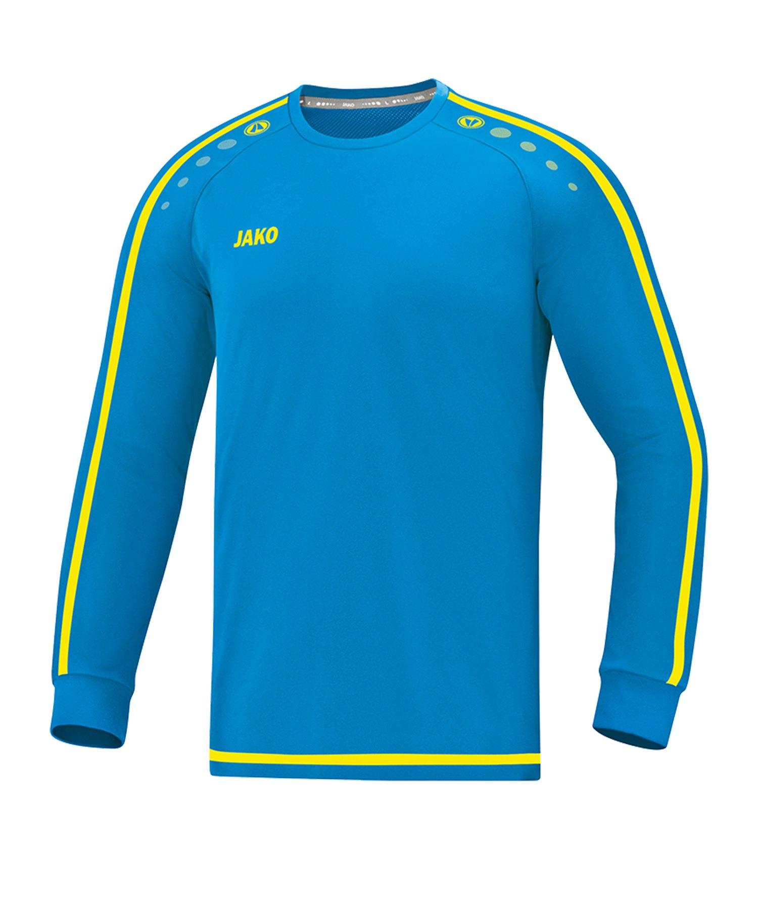 Jako Striker 2.0 Trikot langarm Kids Blau Gelb F89 - Blau