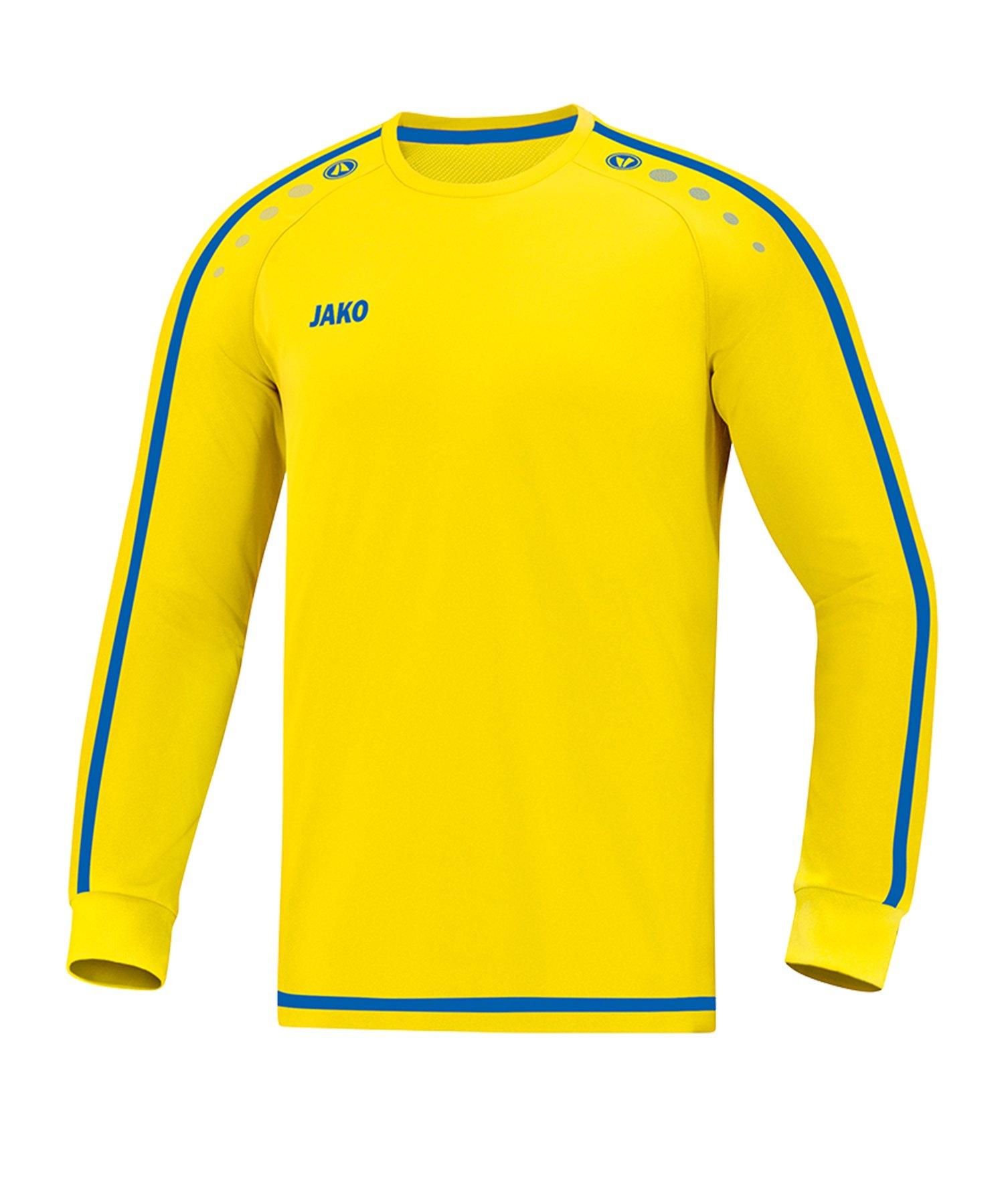 Jako Striker 2.0 Trikot langarm Kids Gelb Blau F12 - Gelb