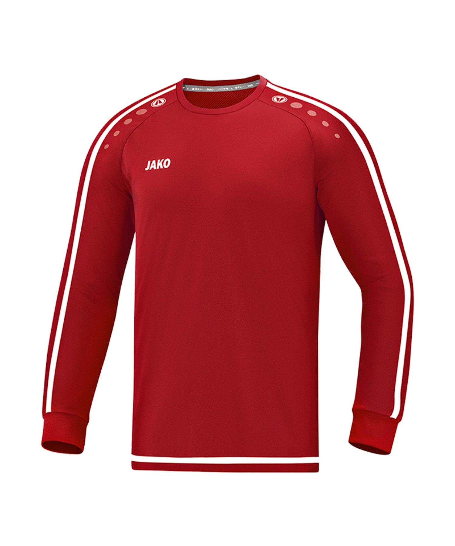 Jako Striker 2.0 Trikot langarm Rot Weiss F11 - Rot