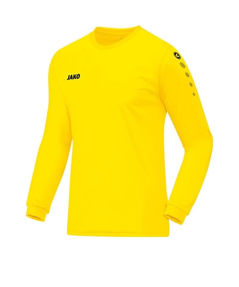 Jako Trikot Team langarm Gelb F03 - gelb